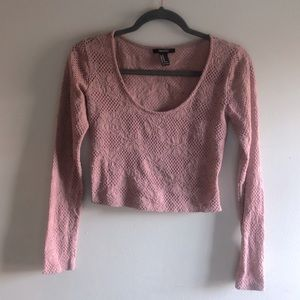 Dusty pink crop top